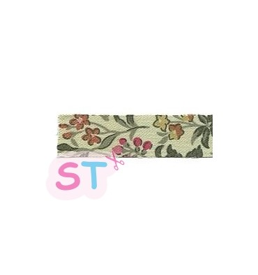 Fabric tape Wild flower green