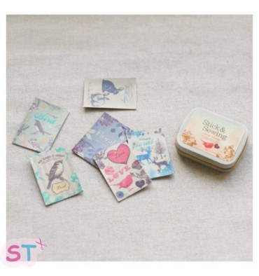 Stick and Sewing Pegatinas de piel para coser Natural