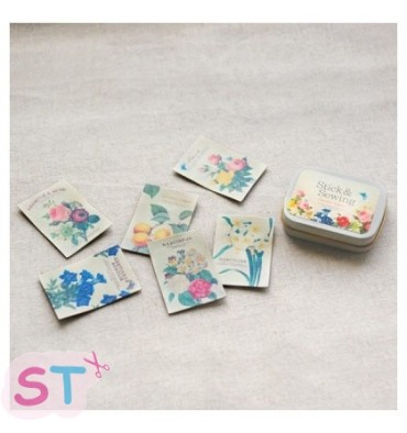Stick and Sewing Pegatinas de piel para coser Botanical