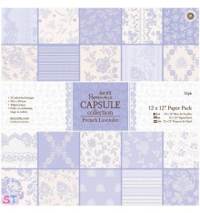 Paper pad French Lavender 12x12