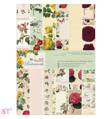 Paper pad Botanicals Die Cuts and Paper Pack A4