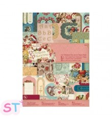 Victorian Valentine Die Cuts and Paper Pack A4