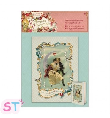 Victorian Valentine Decoupage Card Kit