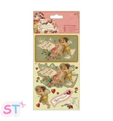 Victorian Valentine Mini Decoupage Cherubs