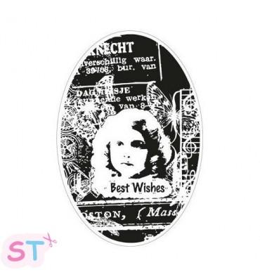 Sello Romantic Vintage Best Wishes Marianne Design