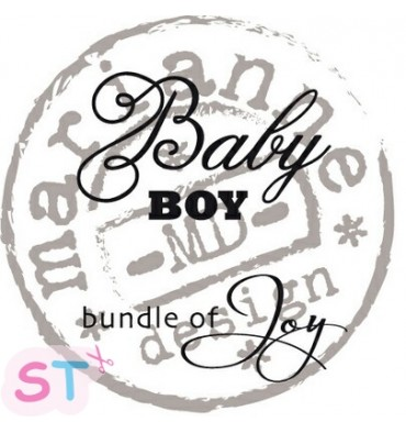 Sello Baby boy Bundle of Joy Marianne Design