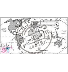 Sello Mapa del Mundo Marianne Design