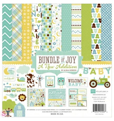 Paper pad Bundle Of Joy-A New Addition Baby Boy 12x12