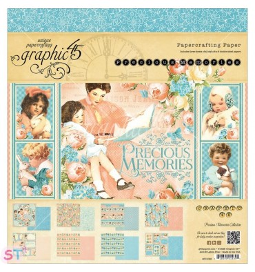 Paper pad Precious Memories 8x8 Graphic45