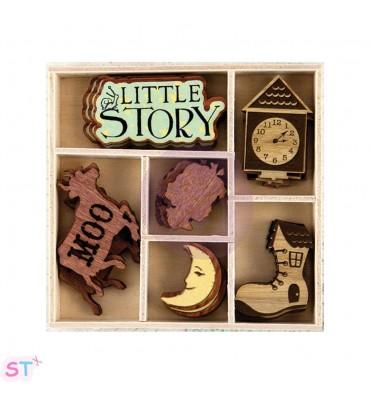 24 Adornos de madera Bedtime Story