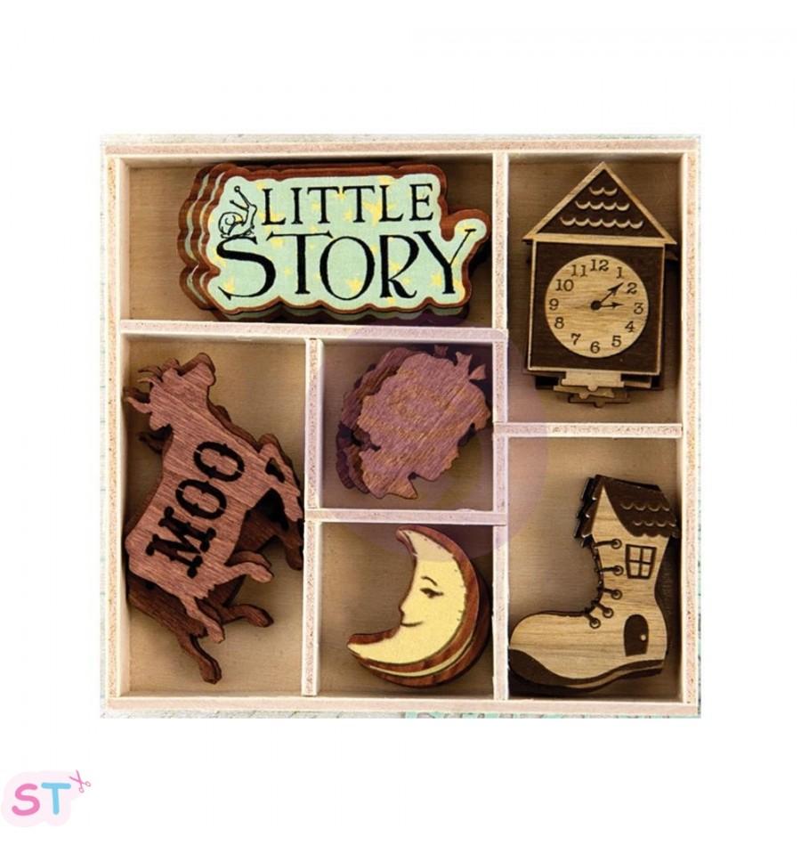 28 Adornos de madera Bedtime Story Scrapeatodocom