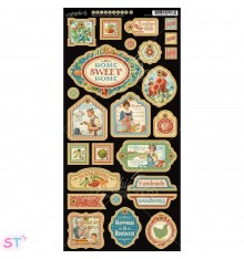 Home Sweet Home Decorative Chipboard precortado Graphic 45