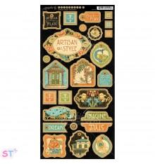 Artisan Style Decorative Chipboard precortado Graphic 45