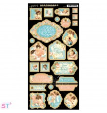 Precious Memories Decorative Chipboard precortado Graphic 45