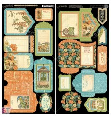 Artisan Style Tags and Pockets Cartulina precortada Graphic 45
