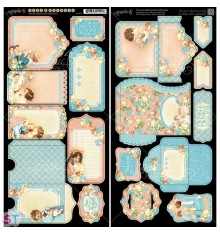 Precious Memories Tags and Pockets Cartulina precortada Graphic 45