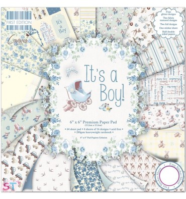 Paper pad First Edition Its a Boy 6x6 Dovecraft
