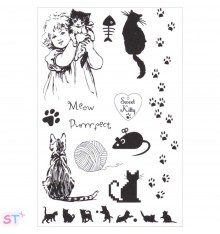 Sello Sweet Kitty Marianne Design