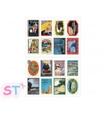 Set 16 sellos adhesivos Poster
