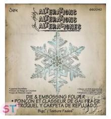 Troquel Bigz con emboss Tim Holtz Layered Snowflake