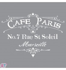 Plantilla Americana Café Paris