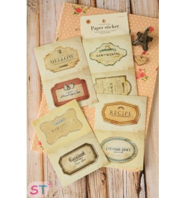 Set 8 pegatinas Romantic