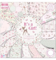 Paper pad First Edition Its a Girl 12x12 Dovecraft