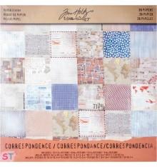 Paper pad  Correspondence Tim Holtz 12x12 Idea-ology
