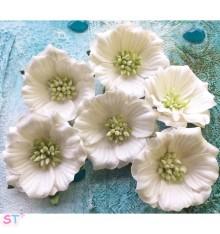 Flores para teñir blancas pequeñas de Marion Smith Designs