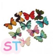 5 Adornos de madera mariposas colores