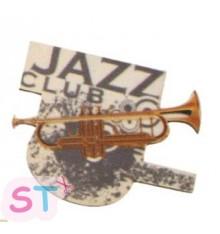 Adorno de madera Jazz Trompeta