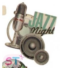 Adorno de madera Jazz Micro
