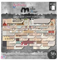 "Paper pad Ephemera Papers 2 Media Mixage 6x6,25"""