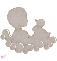 Child & Duck en chipboard