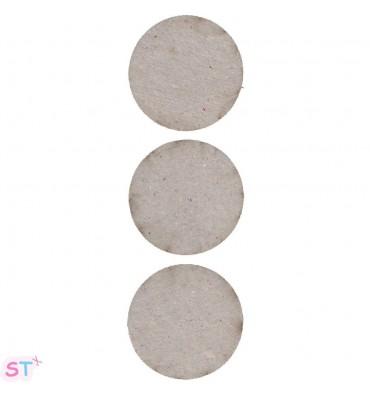Tres círculos en chipboard