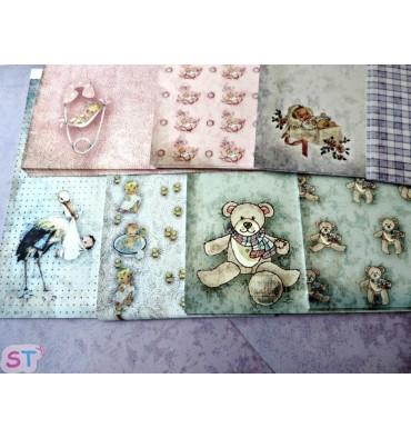 Paper Vintage Baby 12x12 8 hojas
