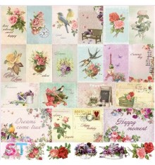 French Journey Cards 12x12