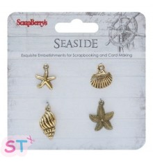 Charms Seaside 2 Scrapberrys x 4
