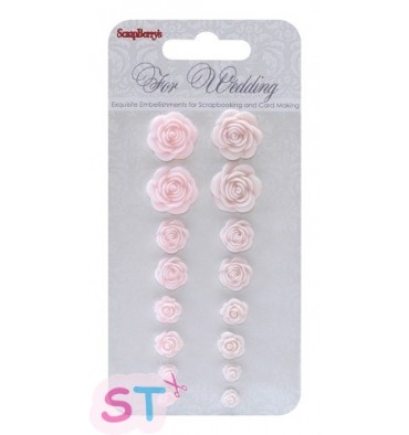 Set de Rosas Wedding Scrapberrys