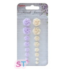 Set de Rosas French Journey Scrapberrys
