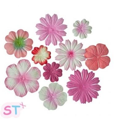 Mini flores Rosas Scrapberrys
