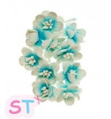 Cherry Blossom Azul y blanco claro x 10 Scrapberrys
