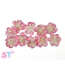 Cherry Blossom Rosa y blanco x 10 Scrapberrys