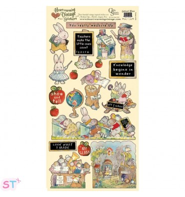 Vintage Stickers School Time