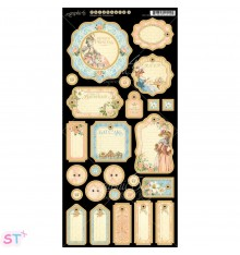 Gilded Lily Journaling Chipboard precortado Graphic 45