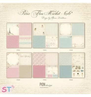 6 Papeles 12x12 Paris Flea Market de Pion Design