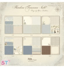 6 Papeles 12x12 Shoreline Treasures de Pion Design