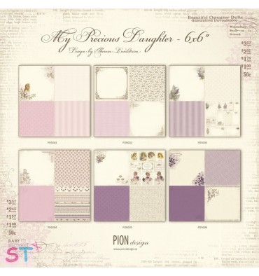 6 Papeles 12x12 My Precious Daughter de Pion Design