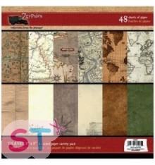 Paper pad Gypsy Travels 6x6 7 Gypsies