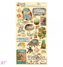 Vintage Stickers Seaside Memories